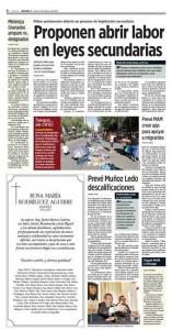 Proponen abrir labor en leyes secundarias, Reforma 10feb17