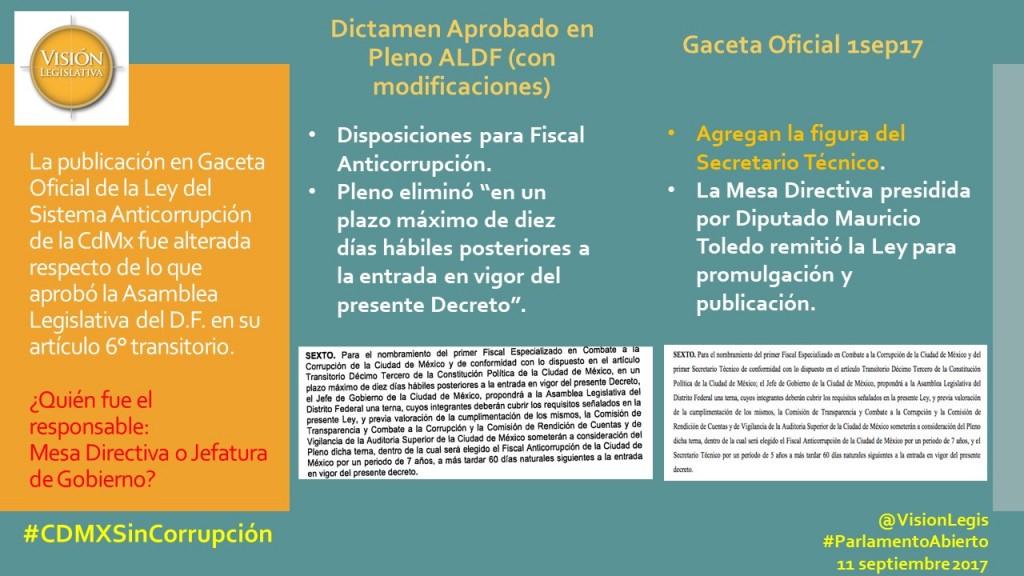 Art 6 trasitorio Ley Anticorrupción CdMx ALDF vs Gaceta.png
