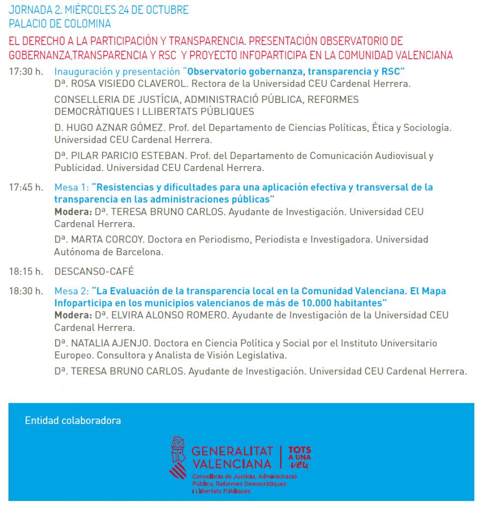 Derecho a la participación programa 2, Valencia 24oct18