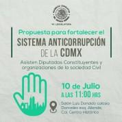 Piso Mínimo para el Sistema Anticorrupción de la Ciudad de México, 10jul17