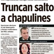Truncan saldo a chapulines, ven especialistas castigo hacia funcionarios – Reforma, Ciudad (10jun15)