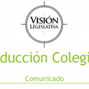 Conducción colegiada de Visión Legislativa, comunicado (2may17)