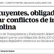 Constituyentes obligados a publicar declaración de intereses, El Universal 14dic16