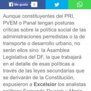 Política social, en manos de la ALDF, Excélsior (27jun16)