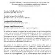 Exhorto al Senado de la República para aprobar la Ley General de Archivos (20oct16)