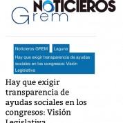 Exigir transparencia de ayudas sociales en los congresos, 5jul17