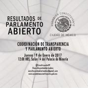 Resultados de la Coordinación de Transparencia y Parlamento Abierto de la Constituyente, 26feb18