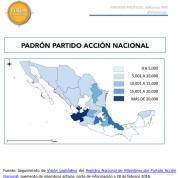 Militancia del Partido Acción Nacional por entidad federativa (19mzo14)