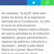 La ALDF debe aplicar parlamento abierto a todos los temas legislativos no sólo al sistema anticorrupción, Excélsior (27jun17)