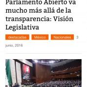Parlamento Abierto va mucho más allá de la transparencia, Noticieros GREM (3jun16)