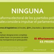 Plataformas electorales no incluyen Parlamento Abierto, 4abr18