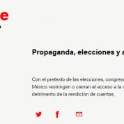 Propaganda gubernamental: elecciones y apertura legislativa, 30may17