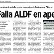 Falla ALDF en apertura, Reforma (15jun16)