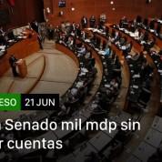 Sin transparencia seguirá el derroche en el Senado, 21jun18