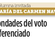 Bondades del voto diferenciado, Reforma Ciudad (1°ene18)
