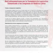Comunicado a los congresos en América Latina. Red Latinoamericana por la Transparencia Legislativa